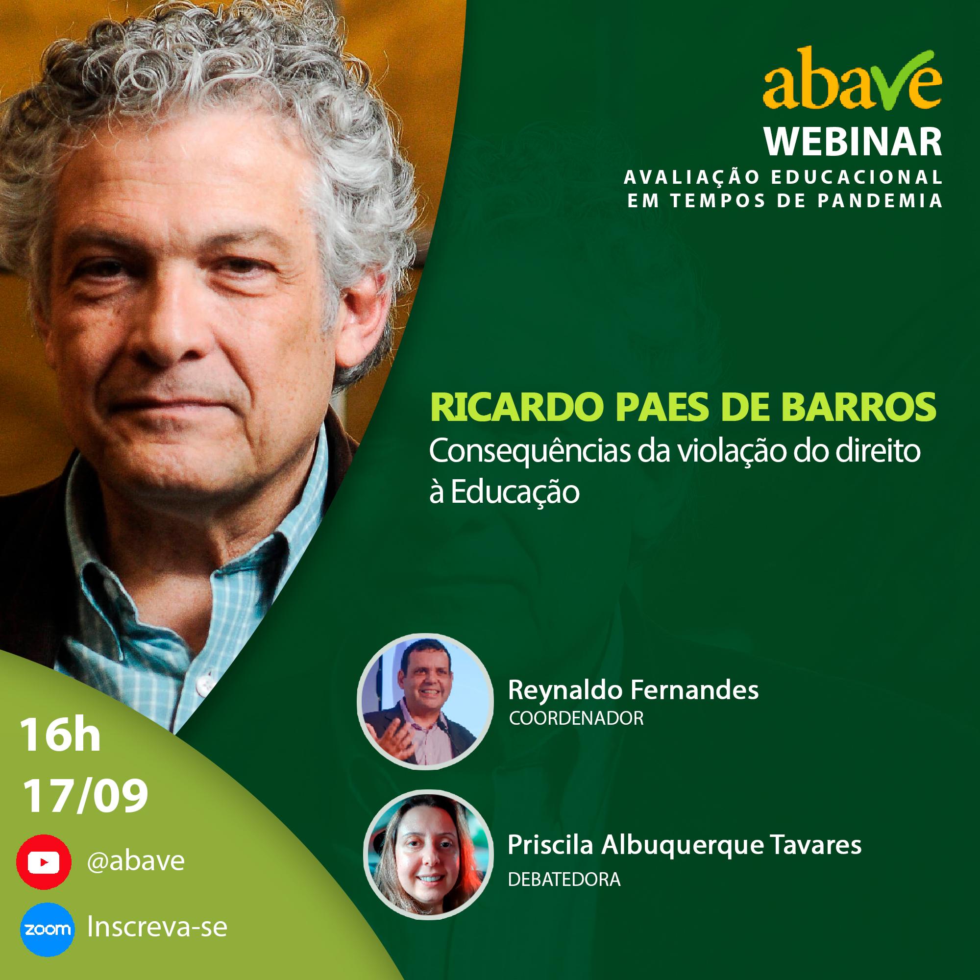 Webinar com Dr. Ricardo Paes de Barros